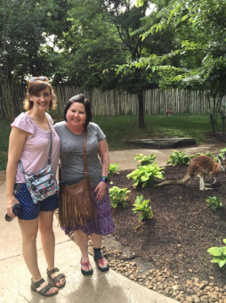 Ginny and me at the Nashville Zoo