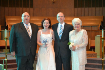 Pop, me, Courtney, & Mom