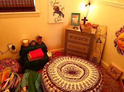 Hippie Hut Prayer Area