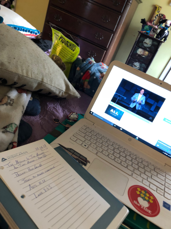 Thankful for online church!