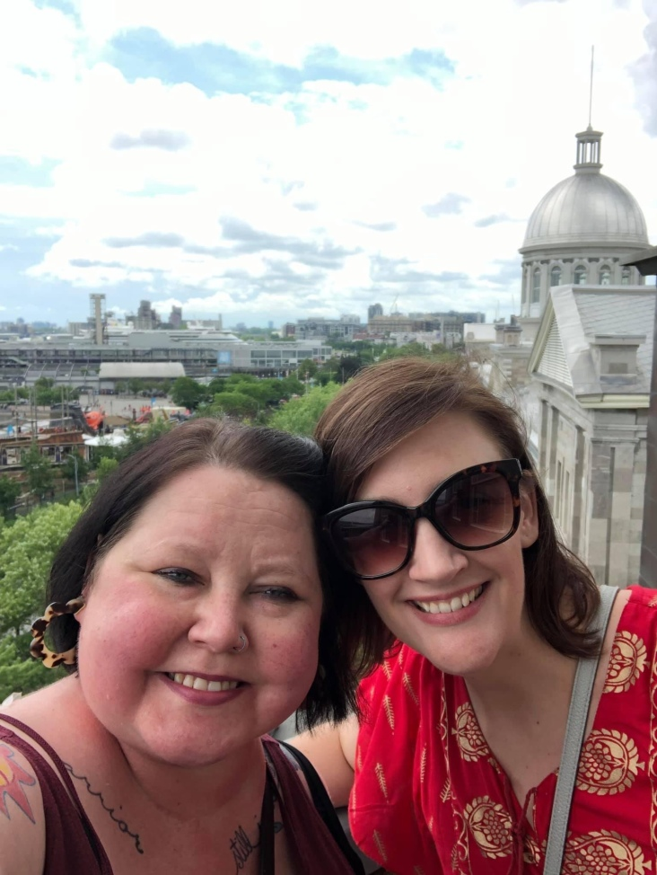 Us in Montreal atop Notre Dame de Bon Secours.