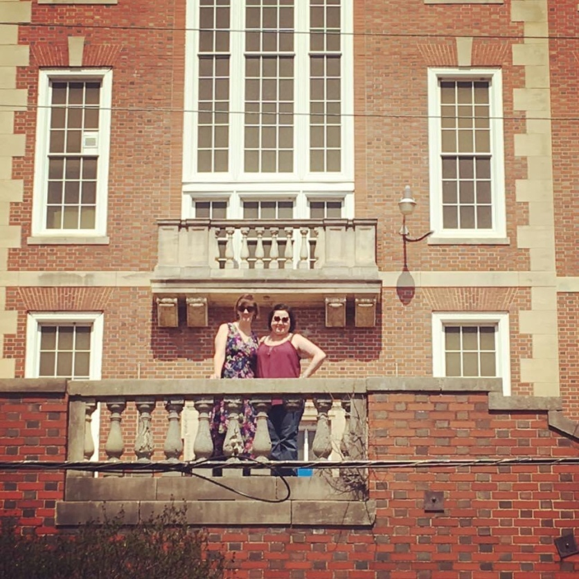 Us in front of our high school.