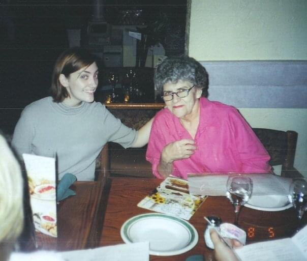 Another absolute favorite. Ginny and Marie at the dinner to celebrate my graduation from nursing school.