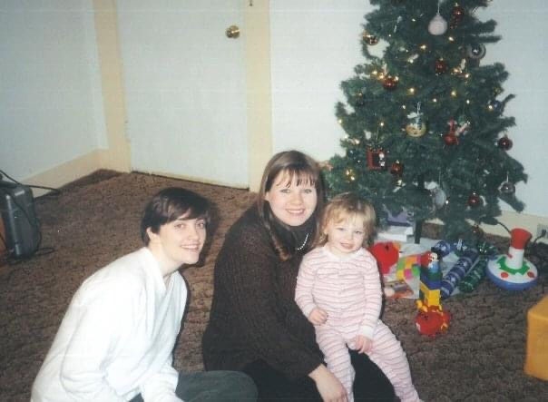Us with my oldest daughter - not long before my son made his appearance.