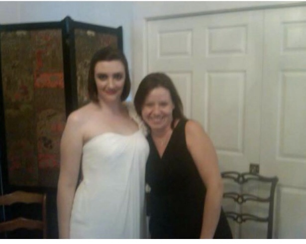 The stunning bride and me at Ginny's wedding.